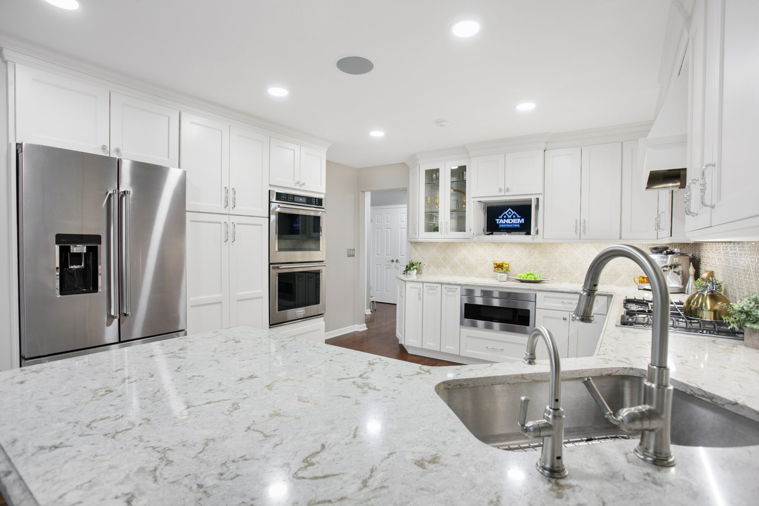 renovated kitchen in a new jersey home.